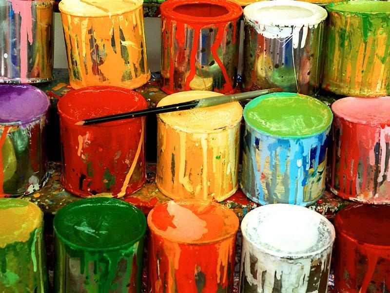 Загрязненные краски
