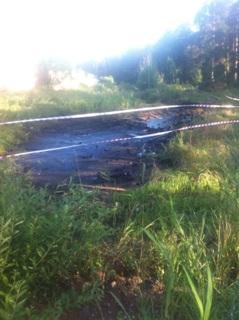 Аварийный разлив нефти фото